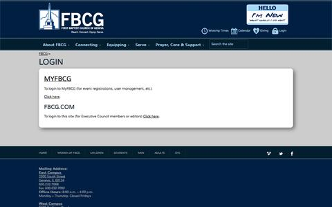 Screenshot of Login Page fbcg.com - FBCGlogin - FBCG - captured Oct. 6, 2014