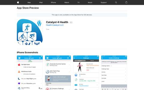 Catalyst 4 Health on the AppStore