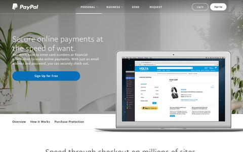 Screenshot of paypal.com - Pay Online: Online Payment Services & Solutions - PayPal US - captured Dec. 24, 2017