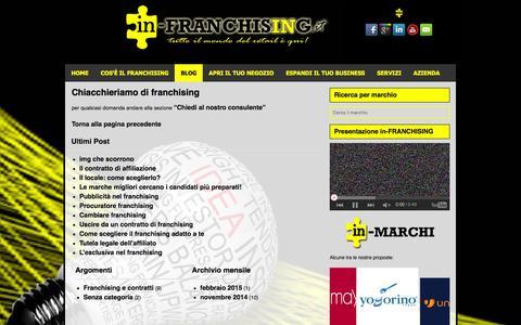 Screenshot of Blog in-franchising.it - Blog | in-FRANCHISING.it - captured Feb. 11, 2016