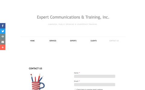 Screenshot of Privacy Page Contact Page expertcommtrain.com - Contact Us - captured Sept. 19, 2017