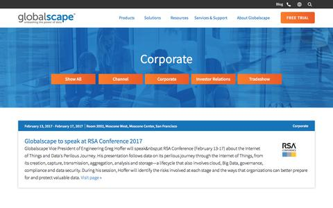Events | Corporate | Globalscape