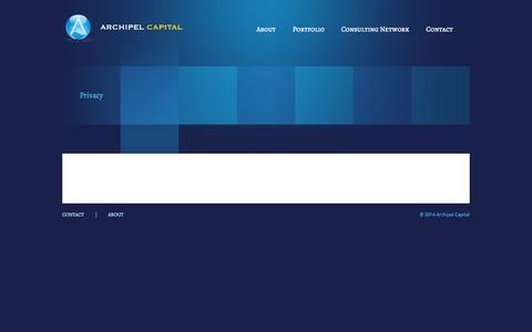 Screenshot of Privacy Page archipelcapital.com - Archipel Capital - captured Sept. 30, 2014
