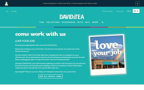 Screenshot of Jobs Page davidstea.com - Careers at DavidsTea - captured Nov. 23, 2015