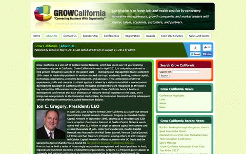 Screenshot of About Page grow-california.com - About Us | Grow California - captured Sept. 30, 2014