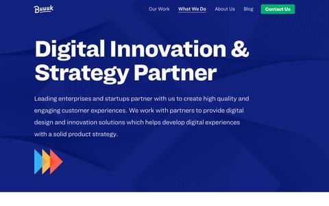 Screenshot of Services Page buuuk.com - Digital Design & Innovation Consultancy | Buuuk Singapore | Buuuk - captured Feb. 16, 2019