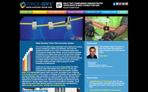 Screenshot of Home Page trace-safe.com - TRACE SAFE / NEPTCO - captured Oct. 7, 2014
