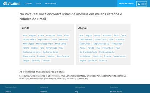 Screenshot of Site Map Page vivareal.com.br captured Feb. 15, 2017