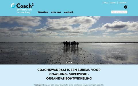 Screenshot of Home Page coachkwadraat.nl - Home - Coachkwadraat - captured July 19, 2018