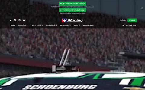 Screenshot of Home Page iracing.com - Online Racing Simulator | NASCAR, Open Wheel, Sportscars & More | iRacing | Simracing | iRacing.com Motorsport Simulations - captured Jan. 13, 2016