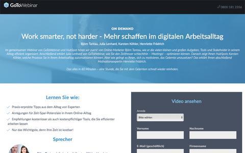 Screenshot of Landing Page citrix.com - Work smarter, not harder - Mehr schaffen im digitalen Arbeitsalltag - captured April 13, 2018