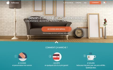 Screenshot of Contact Page recowin.com - Services à domicile, services à la personne et petits travaux en trois clics | hellocasa.fr - captured Oct. 26, 2014