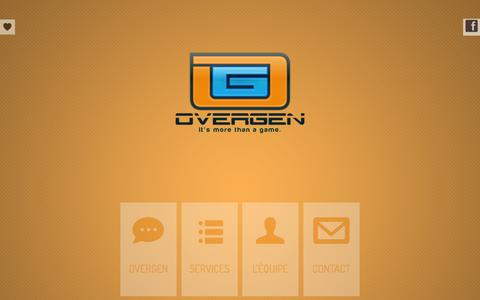 Screenshot of Home Page overgen.com - OverGen   Agence de communication - captured Sept. 30, 2014
