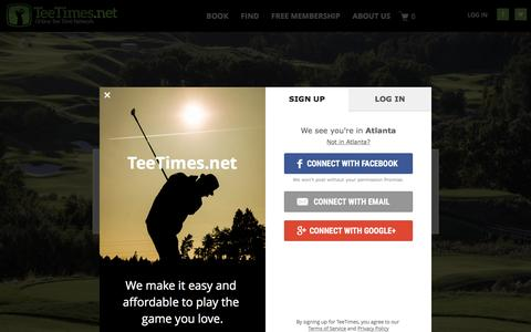 Screenshot of Home Page teetimes.net - TeeTimes.net – Book a Tee Time at more than 2,000 Golf Courses - captured Dec. 15, 2016