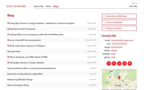 Screenshot of Blog builtinbruges.com - Blog — Built In Bruges - captured Oct. 29, 2014