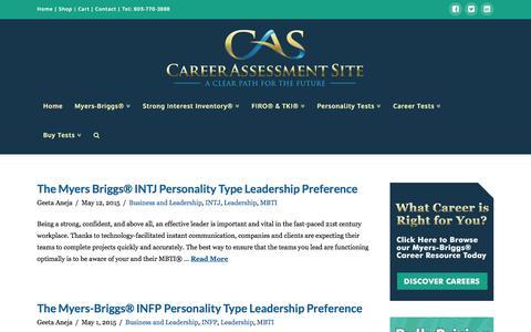 Screenshot of Team Page careerassessmentsite.com - Leadership – Career Assessment Site - captured July 16, 2018