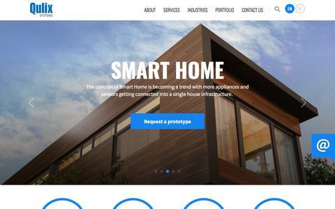 Screenshot of Home Page qulix.com - Custom Development & Consulting Company | Qulix Systems - captured Nov. 16, 2016