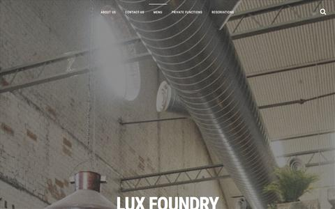 Screenshot of Menu Page luxfoundry.com.au - MENU | LUX FOUNDRY - captured Dec. 14, 2015