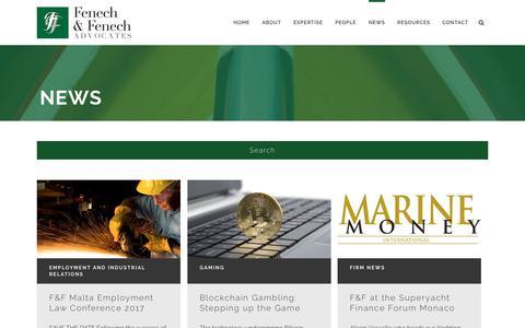 Screenshot of Press Page fenechlaw.com - Fenech and Fenech Advocates |   News - captured Oct. 13, 2017
