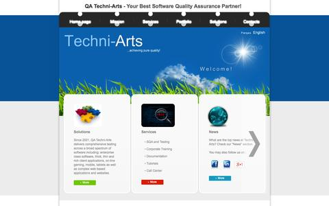 Screenshot of Press Page Menu Page qatechniarts.com - QA Techni-Arts Inc. - Your Best Software QA Partner - captured Oct. 1, 2014
