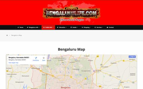 Screenshot of Maps & Directions Page bengalurulife.com - Bengalurulife - Bengaluru Map - captured Feb. 8, 2016