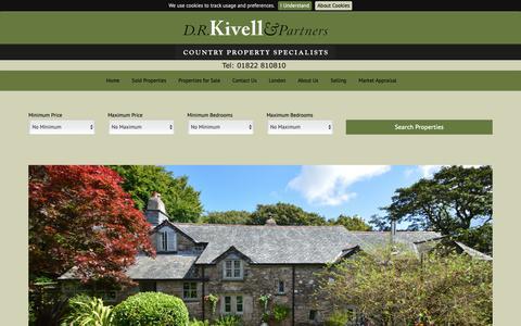 Screenshot of Home Page drkivellandpartners.co.uk - D.R. Kivell & Partners - captured Dec. 9, 2018
