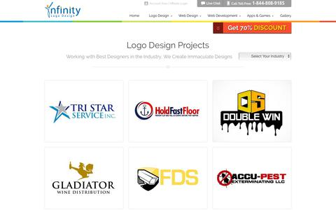 Screenshot of Services Page infinitylogodesign.com - Services Logos - Infinity Logo Design - captured July 7, 2019