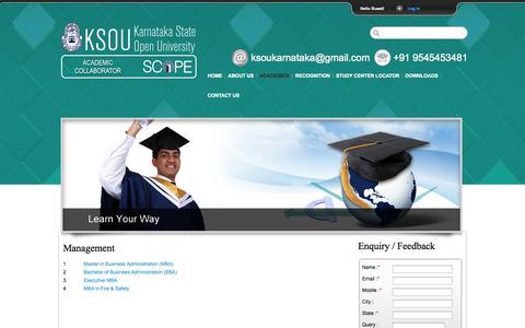 Screenshot of Team Page ksoukarnataka.com - Karnataka State Open University | Calendar of Events - captured Nov. 4, 2014