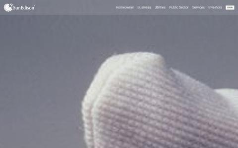 Screenshot of Home Page sunedison.com - SunEdison - captured Jan. 28, 2016
