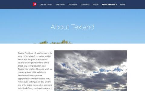 Screenshot of About Page texpetro.com - About Texland | Texland Petroleum, L.P. - captured Oct. 1, 2014