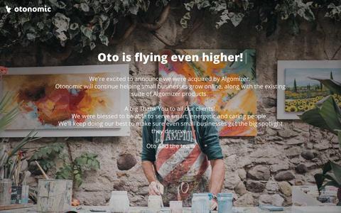 Screenshot of Home Page otonomic.com - Otonomic: Smart Business Websites - captured Sept. 28, 2018