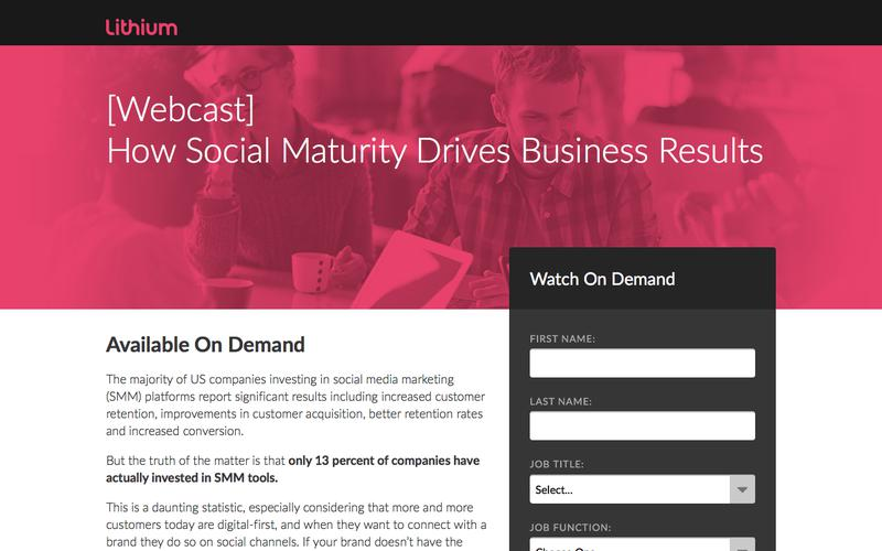 Webcast: How Social Maturity Drives Business Results