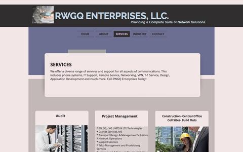 Screenshot of Services Page rwgqenterprisesllc.com - RWGQ Enteprises   SERVICES - captured Dec. 1, 2016