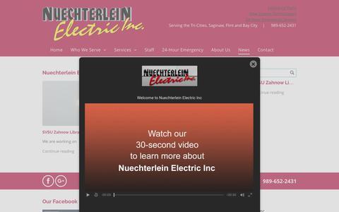 Screenshot of Press Page nelectric.com - Nuechterlein Electric Inc Blog | Frankenmuth, MI - captured Oct. 25, 2017