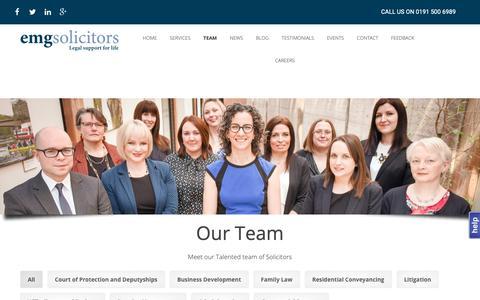Screenshot of Team Page emgsolicitors.com - Our Team - EMG Solicitors - captured Nov. 22, 2018