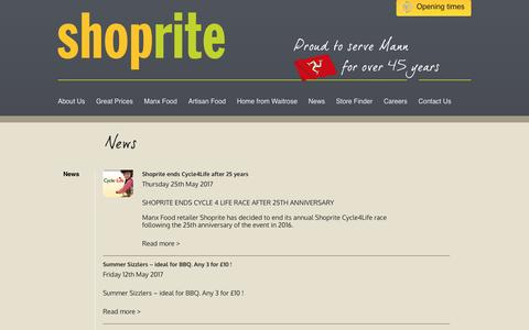 Screenshot of Press Page manxshoprite.com - News » Shoprite - captured May 26, 2017