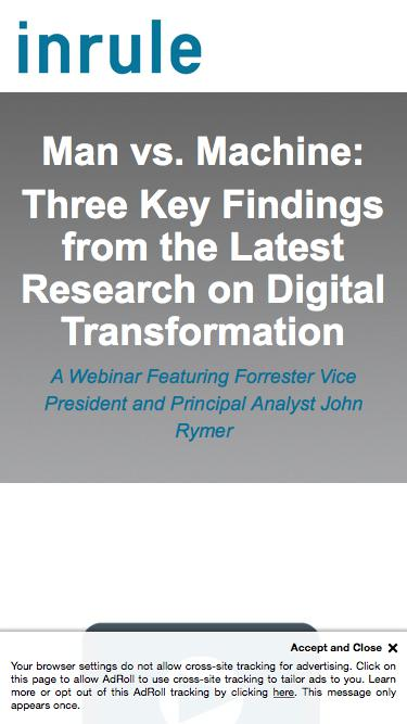 Man vs. Machine: Three Key Findings from the Latest Research on Digital Transformation | InRule Webinar featuring Forrester
