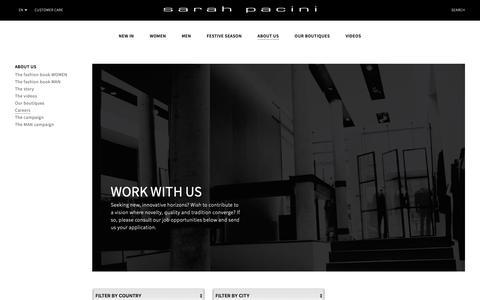 Screenshot of Jobs Page sarahpacini.com - Sarah Pacini - Careers - captured Dec. 9, 2018
