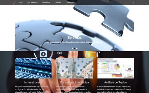 Screenshot of Home Page ibisnetwork.com.ar - ibis Network – Infraestructura de Red y Consultoría informática - captured May 28, 2018
