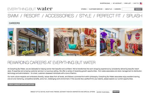 Careers at EverythingButWater | Everything But Water