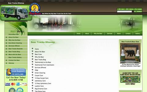 Screenshot of Site Map Page hickscarpetcare.com - Sitemap - captured Sept. 30, 2014