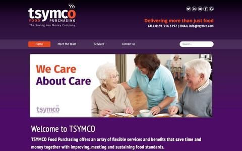 Screenshot of Home Page tsymco.com - TSYMCO � The Saving You Money Company | Home - captured Jan. 12, 2016