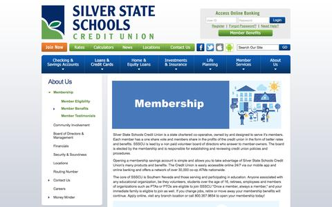 Screenshot of Signup Page silverstatecu.com - Silver State Schools Credit Union : Join Now - captured Dec. 9, 2016