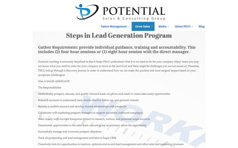 Potential Sales Group | Lead Generation