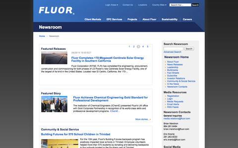 Fluor Newsroom |