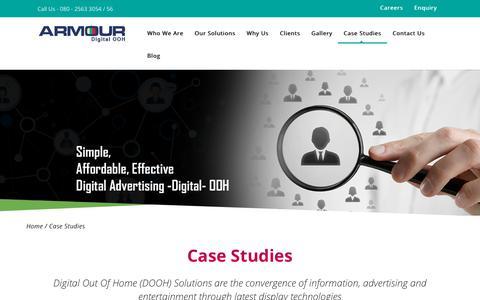 Screenshot of Case Studies Page armourstationtv.com - Case Studies – Armour Station TV - captured July 30, 2018