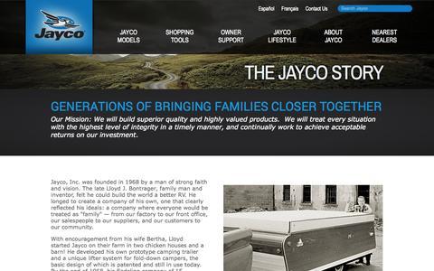Screenshot of About Page jayco.com - The Jayco Story | Jayco, Inc. - captured Sept. 19, 2014
