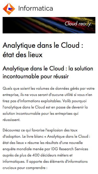 Analytique dans le Cloud : état des lieux