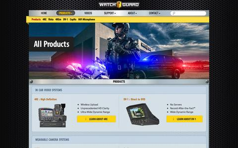 Screenshot of Products Page watchguardvideo.com - Products - WatchGuard Video - captured Oct. 27, 2014