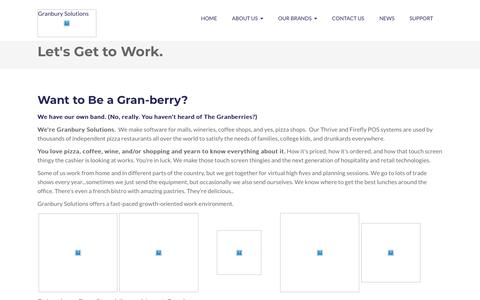 Screenshot of Jobs Page granburysolutions.com - Careers at Granbury Solutions - captured May 20, 2018